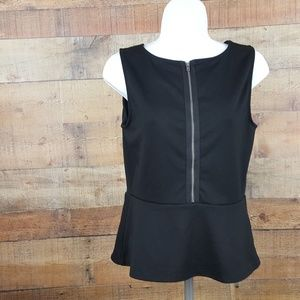 Ann Taylor Loft Petite Top Women's Size SP Black B